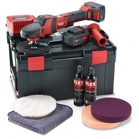 Flex PE150 18.0-EC, 5.0 P-set BS, 18v cordless polisher kit