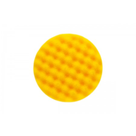 Mirka Polarshine 135 x 25mm Yellow Waffle Foam Polishing Pad