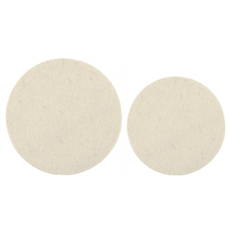 Mirka 77mm & 125mm x 6 mm Felt Polishing Pads Pack of 2 (glass polishing)