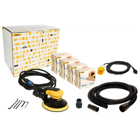 Mirka Ceros 650CV 110V Solution Kit with Abranet Ace Discs