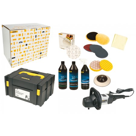 Mirka High Gloss Polishing Solution Kit with 180mm Polisher
