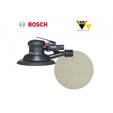 Bosch DEX 150mm ROS sander & Sianet 7900 150mm disc package deal