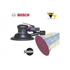 Bosch DEX 150mm ROS sander & S performance 1950 disc package deal