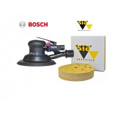 Bosch DEX 150mm ROS sander & Siaone 150mm 15h disc package deal