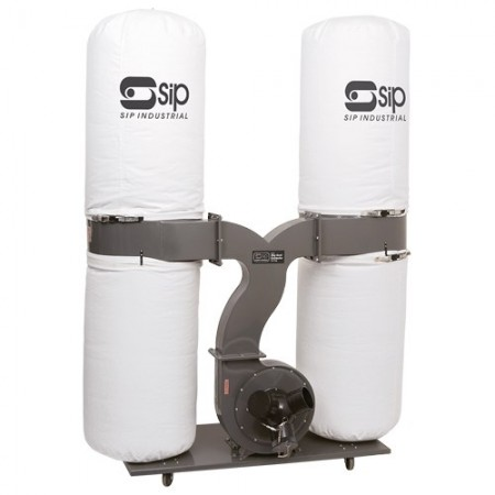 SIP 3.0HP Dust Collector, 2 x 153Ltr (4 bag) Triple inlet